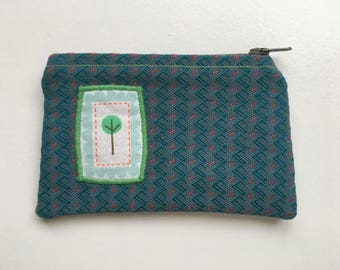 Change Purse coin pouch canvas lined