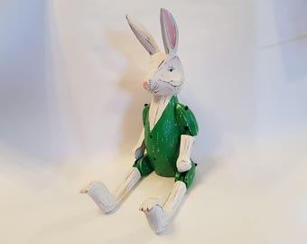 Rabbit Green Jacket Puppet