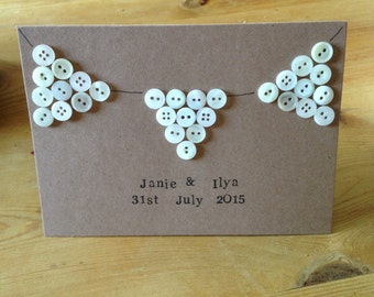 Button Bunting Card