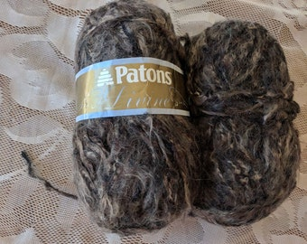 Patons Divine Bulky Weight Wool Blend Vintage Yarn  Deep Earth - Brown - Color - Two balls