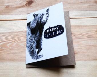 Happy Bearthday Bear - Greeting Card