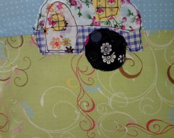 Shabby chic cushion cover