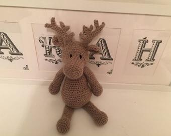 Hand crocheted reindeer