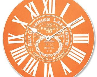 Galeries Lafayette Orange Wall Clock