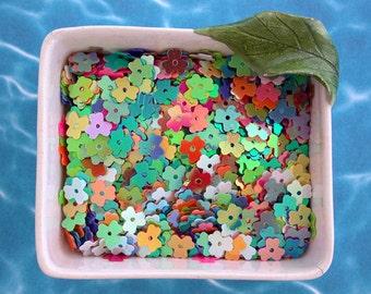 Sequins, Confetti, Flower Sequins, Multi Colored Sequins, Mixed Sequins, Flower Confetti SQ-015