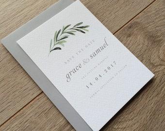 OLIVE | Greenery Wedding Save The Dates, Olive Wedding Save The Dates, Olive Wedding Modern Botanical Wedding Invitations, Southwestern
