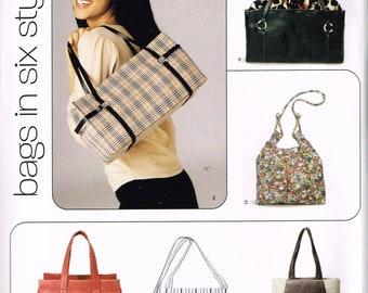 Hobo Bag Sewing Pattern - Sling Purse Pattern - Shoulder Bag Pattern - Tote Bag - Purse Pattern - Craft Sewing Pattern  - New Look 6365