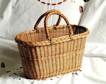 Wicker Purse, Wicker Bag, Handwoven Willow Handbag, Small Wicker Bag, Willow Purse, Small Basket Purse, Basket Bag, Basket Tote