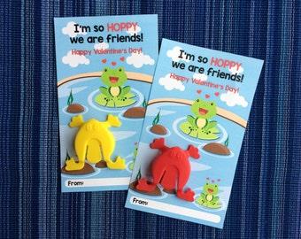 Frog Valentine - Instant Download - Valentine's Day Digital Printable -  Digital Valentines - Kids Valentines - Valentines for Kids - Frogs