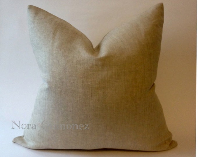 Decorative Linen Throw Pillow Cover  - Invisible Zipper Closure- Cushion Cover