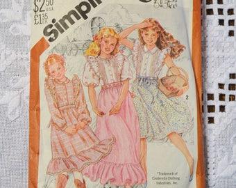 Vintage Simplicity 5594 Sewing Pattern Girls Dress in 3 Lengths Cinderella Size 7 Crafts  DIY Sewing Crafts PanchosPorch