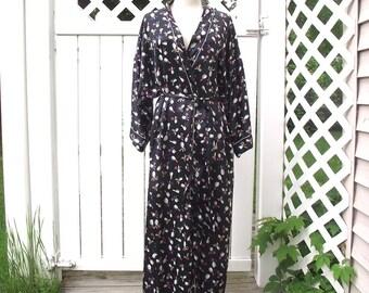 Christian Dior Loungewear Vintage 80s Robe Sz L