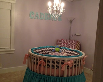 Custom Round Crib Bedding ~ Made to Order