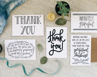 "Thank You 4""x6"" Greeting Card Set of 5"
