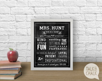 Teacher Appreciation Gift, End of the Year Teacher Gift, End of the Year Gift Ideas,  Customizable Teacher Gift, DIGITAL FILE
