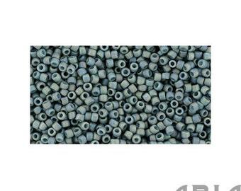 SEMI GLAZED Rainbow Blue TURQUOISE (2635F) : 15/o Toho Semi Glazed Japanese Seed Beads (10 grams)