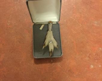 Antique animal foot broach