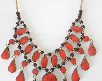 AFGHAN red coral necklace