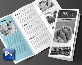Trifold Brochure Template, Photoshop Template, Business Brochure, Photography Brochure, Pricing Guide, 3 Panel Brochure, Brochure Design