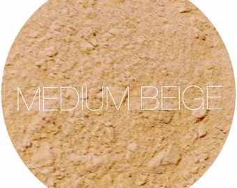 Medium Beige Mineral Foundation • Natural Mineral Makeup • Vegan And Gluten Free Mineral Makeup