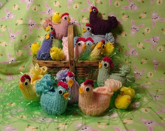 Three Easter Chicks from Vintage Pattern-Fill with Candy