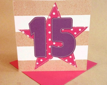 Age 15 Girl Birthday Card