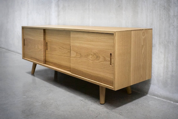 Fabulous Solid White Oak Media Console/ Credenza/ Sideboard/ Cabinet GM04