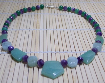 Aventurine and Amethyst Necklace