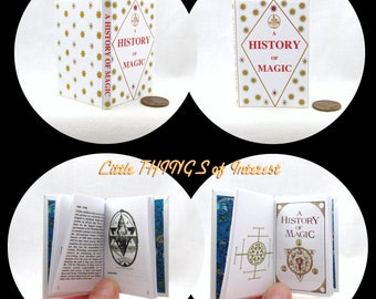 A HISTORY Of MAGIC TEXTBOOK in 1:3 Scale 18 inch American Girl Doll Illustrated Spell Popular Boy Wizard Witch Fortune Teller Potter Magic