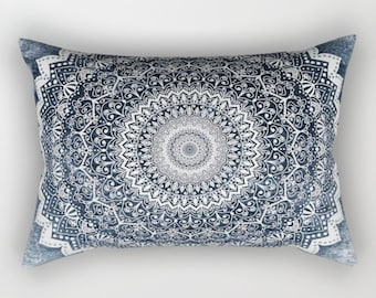 COLD WINTER MANDALA Bohemian Rectancular Pillow