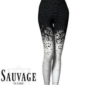 Texture #ONE black'n'white Leggings for the wild ones