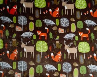 fleece, flannel, animals, forest, Fox