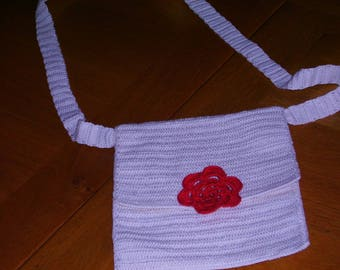 bag was ecru crochet