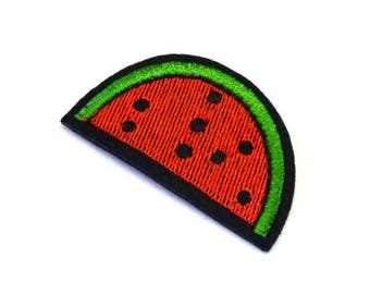 Watermelon Iron on Patch, Watermelon Patch, Red Watermelon Slice, Red Watermelon Patch, Red Watermelon Appliqué