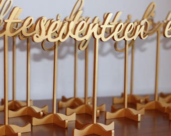 Wedding Numbers-Gold Table Numbers-Gold Wedding Numbers - Table numbers