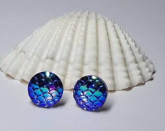 Mermaid Earrings, Mermaid Jewelry, Mermaid Earring, Beach Earrings, Dragon Earrings, Mermaid Jewellery, Mermaid Scale, Ocean Earrings, Sea