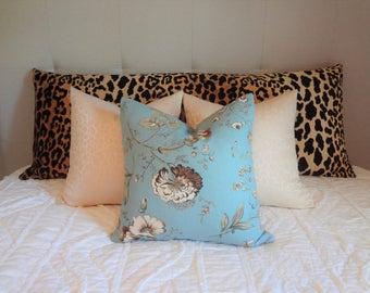 Braemore Jamil Velvet Cheetah Animal Print Black & Tan Body Pillow Cover Leopard Print Bed Pillow Cover