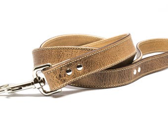 Natural - 4ft Leather Dog Leash