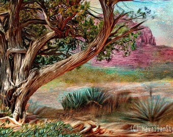 Painting of beautiful Sedona, Arizona.