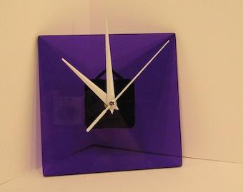 Minimalist Purple Hand Made Clock