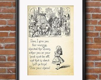 Alice in Wonderland Decor - Wonderland Wedding Prop Decorations - Wedding Prop - The Queen of Hearts Print - Wall Art - 0186