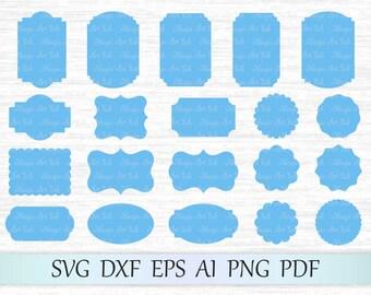 Frames svg, Label svg, Vintage frames svg file, Frames vector, Retro frames svg, Frames clipart, Frames cricut, Frame silhouette, Frames cut