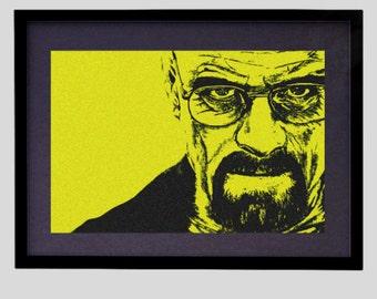 PRINTABLE Walter White Portrait Breaking Bad Illustration Heisenberg Art Print Instant Digital Download Print File