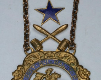 Son's of St George Fraternal Pin/Medal - GF- Past Worthy President