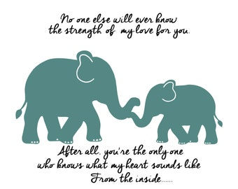 Kids Wall Art Gold Elephant Prints Elephant Nursery Decor Elephant Nursery Art Nursery Prints elephant wall Art Mother and Baby Love Quote