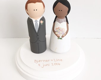 Custom Wedding Cake Topper Peg Dolls
