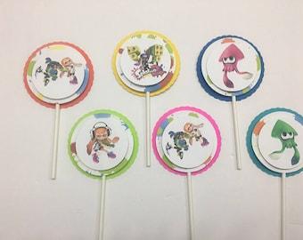 Splatoon Cupcake Toppers