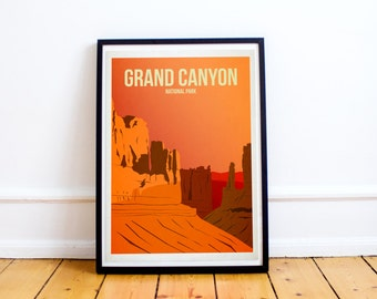 Grand Canyon National Park - US National Parks - Art Print - (Available In Many Sizes)