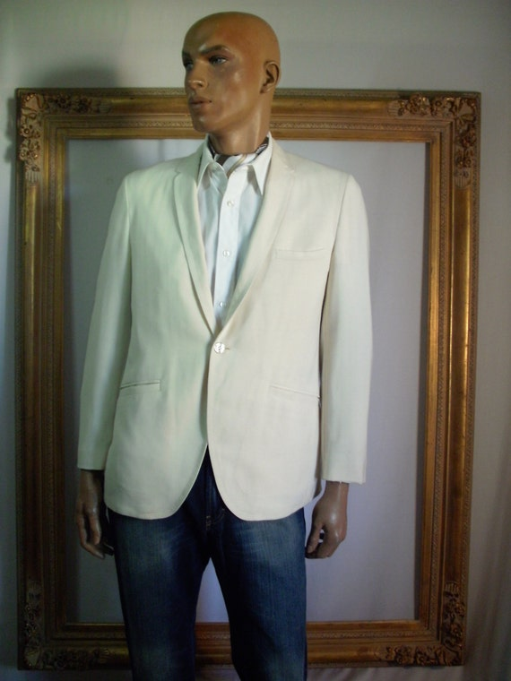 Vintage 1960's Benedetti Crean Colored Wool Jacket - Size 42 1f6T0vJ