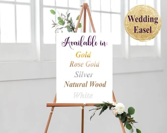 wedding easel etsy